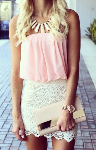 skirt white white skirt style trendy bag