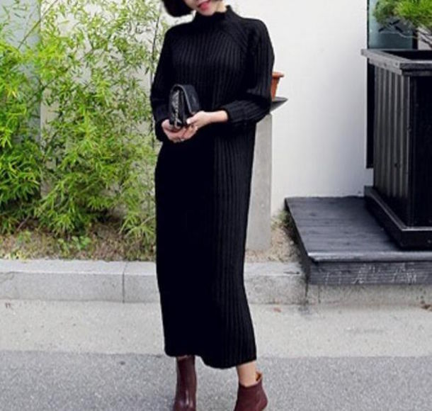 Dress Beautiful Woman Gorgeous Korean Fashion Korean Style Cool Fashionista Black