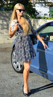 paris hilton,dress,shoes,sunglasses