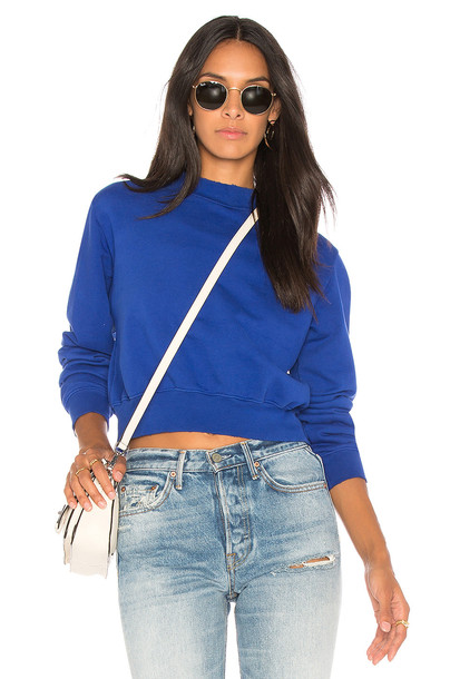 Cotton Citizen sweatshirt cropped blue sweater