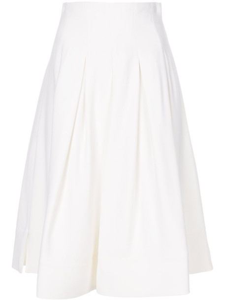 KHAITE skirt pleated skirt pleated women spandex white silk