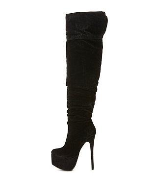 High Heel Platform Over-the-Knee Boots