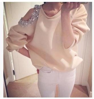 jacket diamonds white jumper