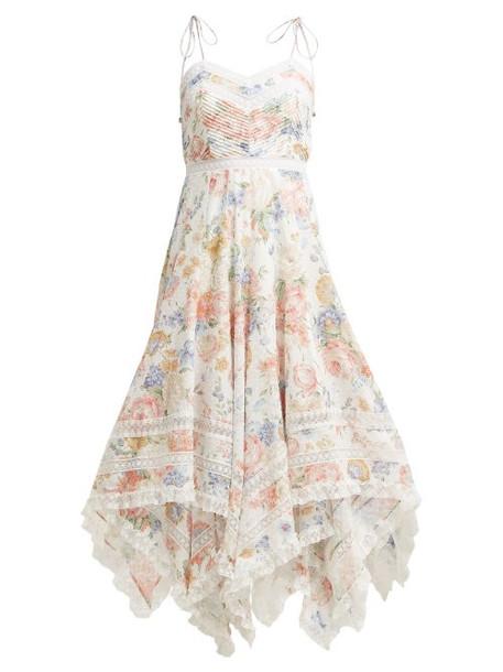 dress floral print cream