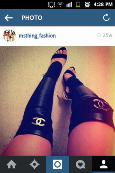 shoes high heels chanel shoe sleeves leg warmers