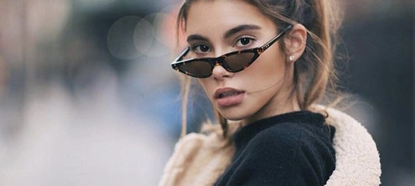 02e2d3ded9 Thin Retro Cat Eye Sunglasses