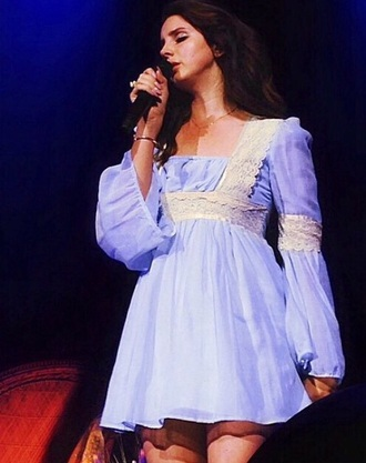lana del rey blue dress