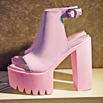 shoes pink heels platform shoes high heels high waisted cute urban outfitters swag strappy barbie style new vintage nude heels pink heels pastel christmas gift ideas hair accessory urban pastel pink