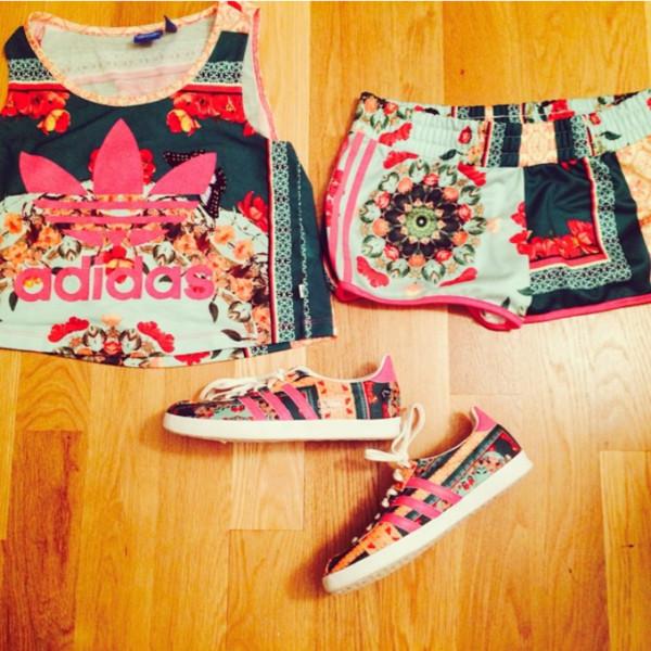 blouse adidas shorts shirt