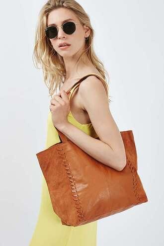 bag leather tote bag brown bag