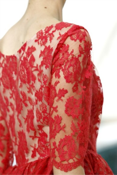 dress red dress patterned lace dress patterned lace red lace lace dress prom dress prom