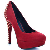 Kelsi Dagger's Red Teya - Red Suede for $97.49 direct from heels.com