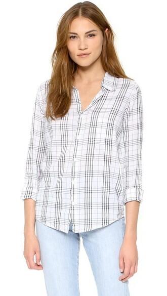 shirt button down shirt plaid top