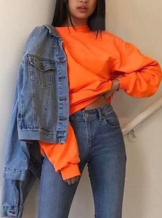 jacket orange hoodie orange hoodie nike fall outfits outfit cute