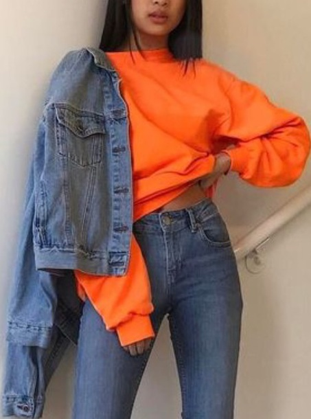 1fd6ee066588 jacket orange hoodie orange hoodie nike fall outfits outfit cute