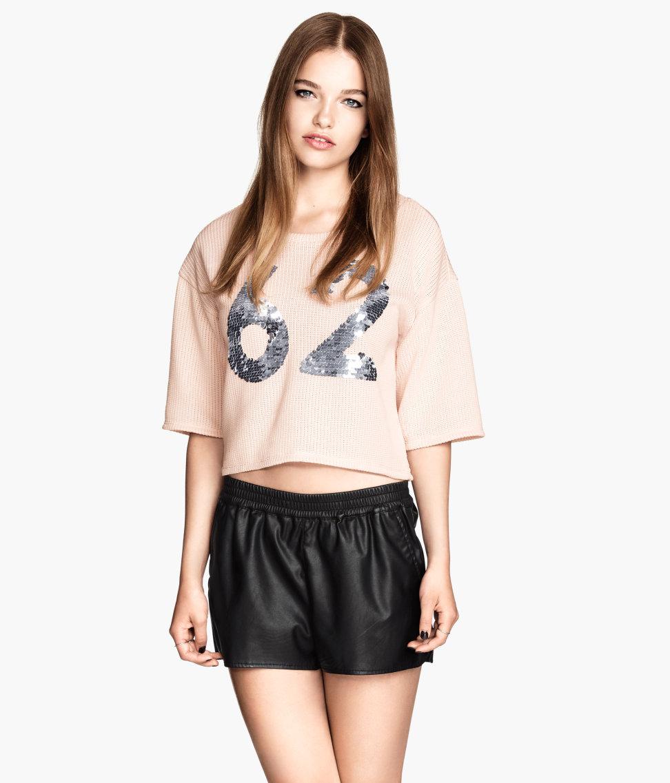 H&M Imitation Leather Shorts $17.95
