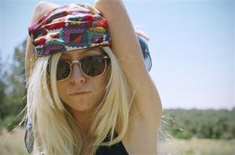 hair accessories colourfulbandana colourful bandana head scarf rainbow hair scarf aztec accessories tips