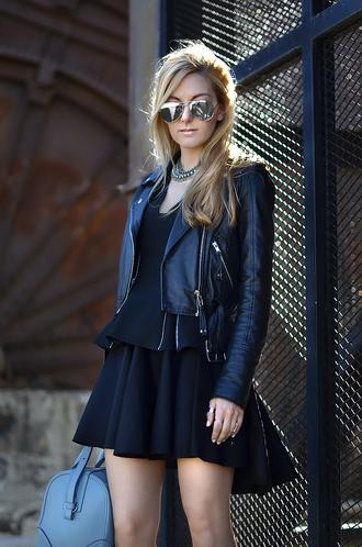 oh my vogue jacket t-shirt jewels skirt bag shoes