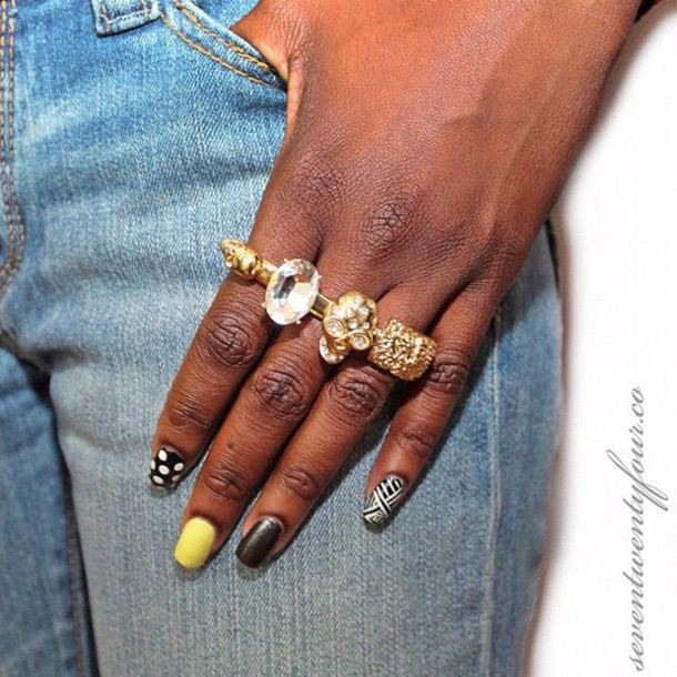 jewels, skull, three finger ring, 3 finger ring, gold, rhinestones ...