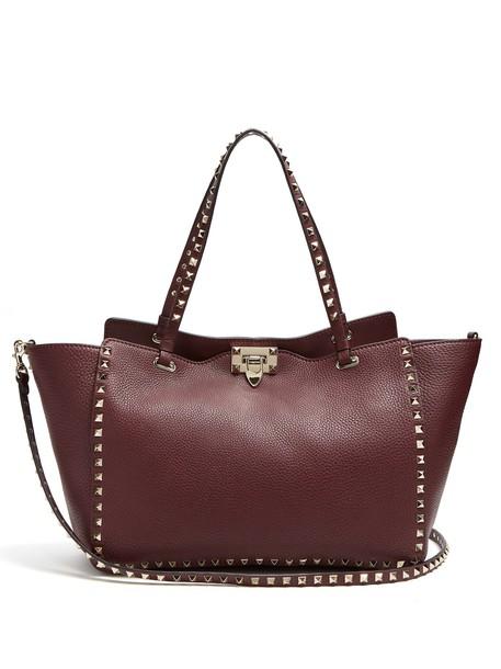 Valentino leather burgundy bag