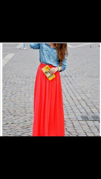 cute skirt red red skirt maxi skirt maxi cute skirts red lime sunday