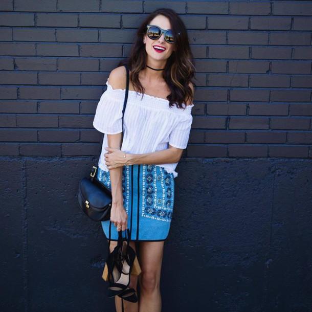 2855c5f993d skirt, embroidered denim skirt, denim skirt, embroidered ...