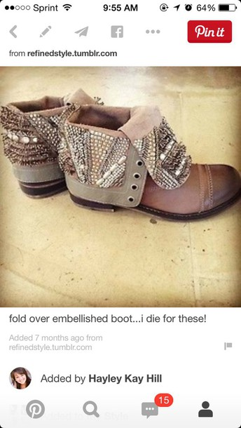 shoes studded booties