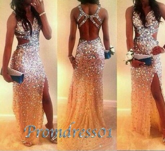 dress sequin dress sexy dress slit dress open back prom dress