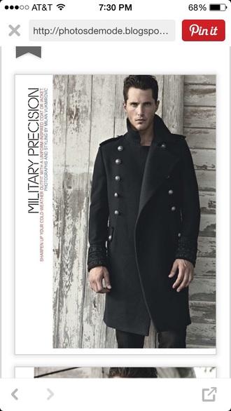coat menswear mens coat pea coat black coat