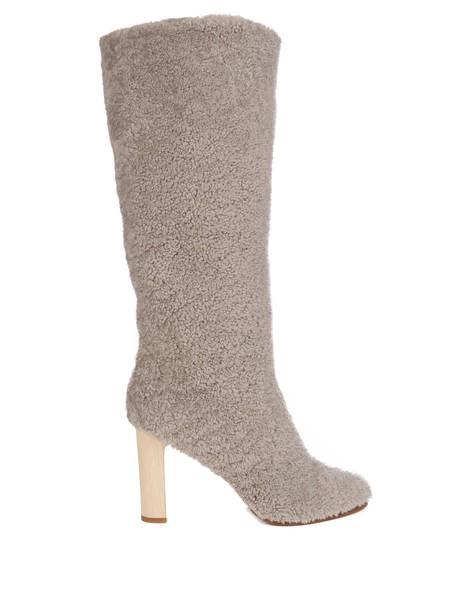 ÁLVARO heel heel boots grey shoes