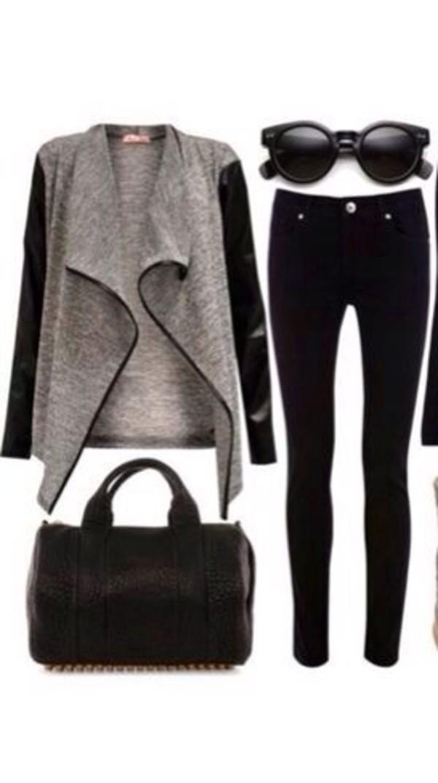 sweater seeater coat sunglasses jeans bag jacket