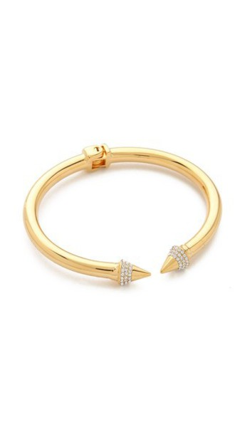 Vita Fede Mini Titan Crystal Bracelet - Gold/Clear