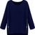 Navy Long Sleeve Side Zipper Cable Knit Sweater - Sheinside.com