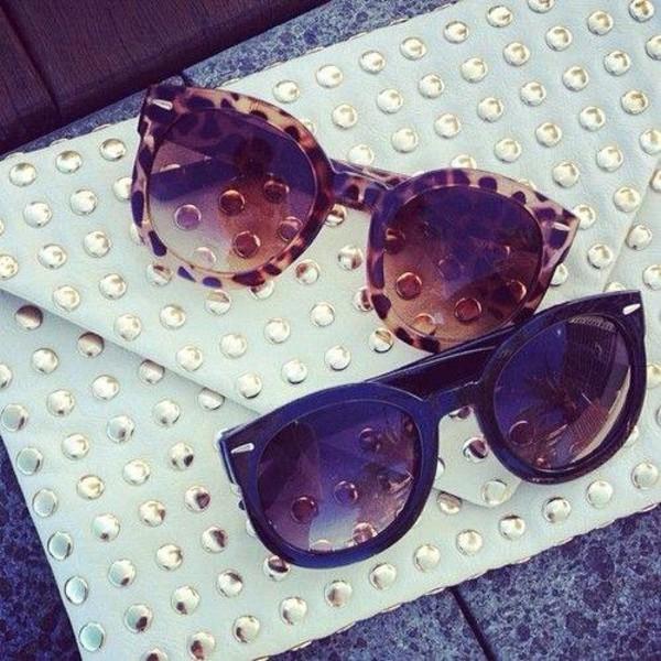 sunglasses round glajjor leopard print