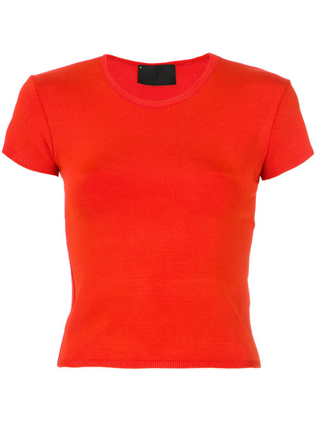 t-shirt shirt t-shirt women spandex red top