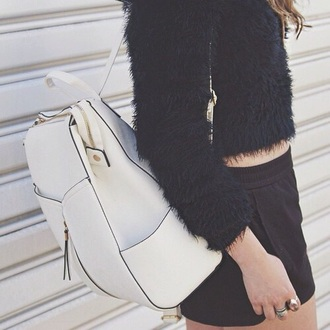 bag white backpack