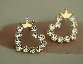 princess jewels earrings diamonds crown chanel pink golden rings crown rings jewerly stylish heels swag