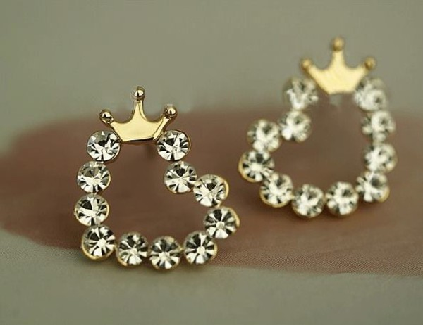 jewels earrings diamonds princess crown pink gold ring crown rings jewerly stylish heels swag
