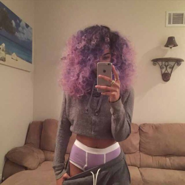 underwear purple beyoncé briefs girly 7/11 hair accessory