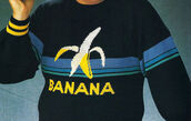 sweater,jumper,banana shirt,banana print,vintage,sweatshirt,menswear,mens sweater