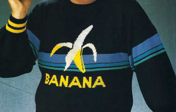sweater jumper banana shirt banana print banana print vintage sweatshirt menswear mens sweater