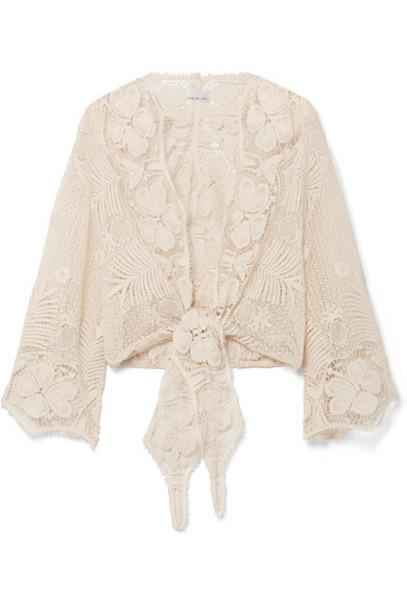 Miguelina top lace top lace cotton beige