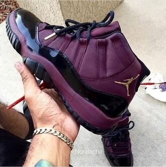 shoes jordans jordans concord 11 purple maroon/burgundy bred 11s jordan sneakers gold rétro jordans 11 air jordan