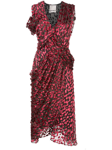 jason wu dress wrap dress women silk red