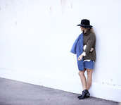 happily grey,blogger,hat,denim skirt,quilted,denim,coat,sweater,shirt,skirt,shoes,bag