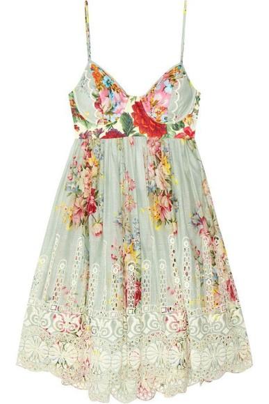 floral dress spaghettistraps dress floral clothes boho spanish tea time