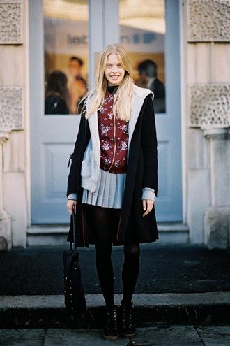 zip vanessa jackman blogger pleated skirt