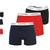 Calvin Klein Boxers 3 Pack, Men Boxers, Lowe Rise Trunk, Underwear - BLACK/NAVY/RED