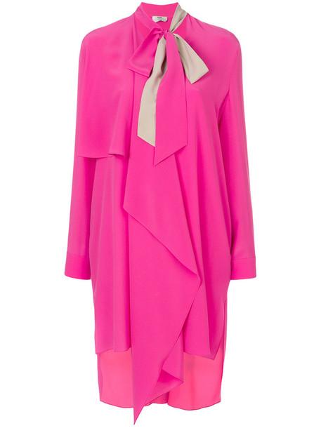 Fendi dress bow dress bow women silk purple pink