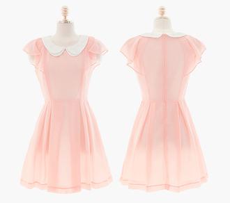 dress pink transparent cute kawaii pastel pink mini dress